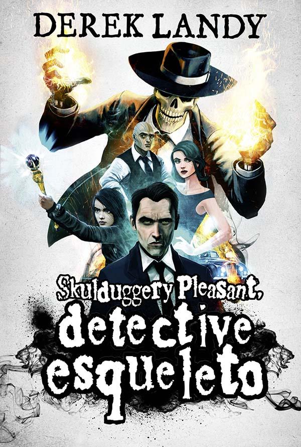 Portada de Skulduggery Pleasant, detective esqueleto